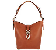 As Is Dooney & Bourke Lock Toscana Leather Shoulder Bag - Lily - A289844