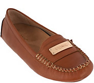 As Is Vionic Orthotic Leather Moccasins - Sydney - A293144