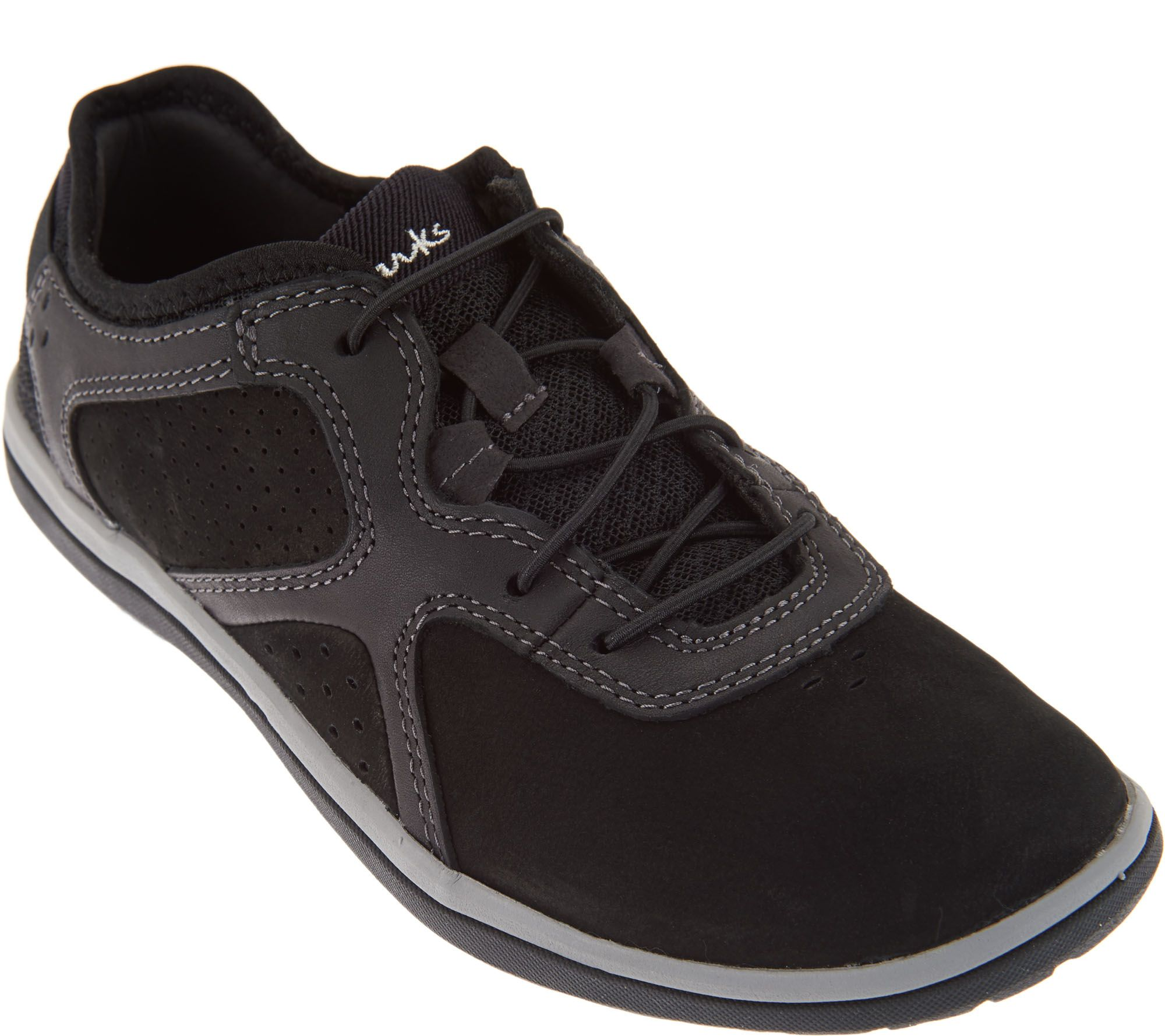 quot as is quot clarks leather bungee slip on sneakers lace