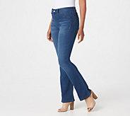 Laurie Felt Tall Silky Denim Boot Cut Pull-On Jeans - A295344