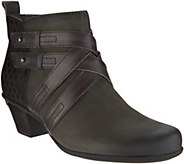 Earth Leather Multi-Strap Ankle Boots - Emerald - A296744