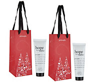 philosophy super-size hope in a tube duo with holiday bags - A299044