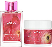WEN by Chaz Dean Pink Jasmine Peony 3.4oz EDP & 8oz Body Treatment - A300244