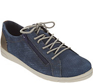 Earth Origins Lace-up Suede Sneakers - Cameron - A303244