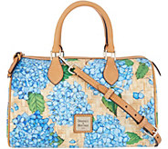 Dooney & Bourke Hydrangea Basketweave Classic Satchel Handbag - A308744