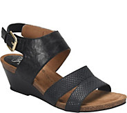 Sofft Leather Wedge Sandals - Velden - A364644