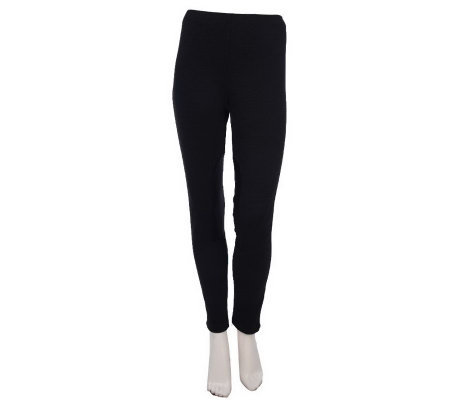 M by Marc Bouwer Riding Leggings with Faux Leather Patches
