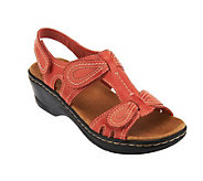 Clarks Leather Sandals w/Adjustability - Lexi Walnut - A230245