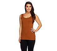 Linea by Louis DellOlio Whisper Knit Rib Trim Tank - A232345