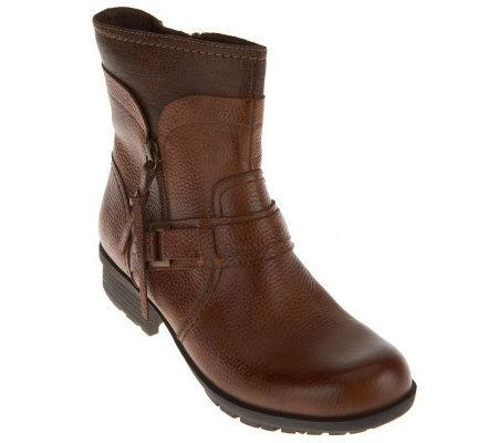 clarks bendables riddle avant leather ankle boots qvc