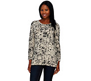 Denim & Co. Active French Terry Floral Print Sweatshirt - A238345