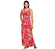 Kelly by Clinton Kelly Regular Geo Printed Knit Maxi Dress - A254045