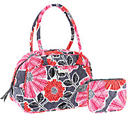 Vera Bradley Signature Print Medium Bowler Bag with Coin Purse - A260645