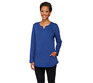 Denim & Co. Active Regular French Terry Tunic with Seaming Detail - A261545