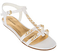 Marc Fisher T-strap Sandals w/ Ankle Strap - Padalis - A264445