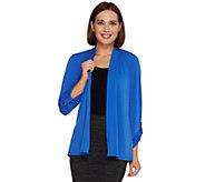 Susan Graver Liquid Knit Open Front Cardigan - A265345