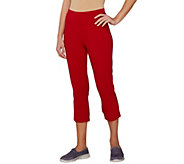 Denim & Co. Active Duo-Stretch Crop Pants with Back Vents - A265645