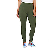 Denim & Co. Active French Terry Leggings w/ Pockets - A266845