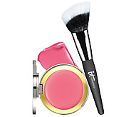 IT Cosmetics CC Creme Blush with Angled Radiance Brush Auto-Delivery - A268945