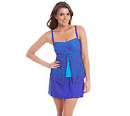 As Is Liz Claiborne New York Crochet Flyaway Skirtini - A271745