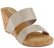As Is Skechers Relaxed Fit Rhinestone Slide Wedges - A278745