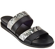 As Is LOGO by Lori Goldstein Two Toned Mixed Media Strap Sandals - A285245