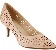 As Is Isaac Mizrahi Live! Perforated Leather Pumps - A288345