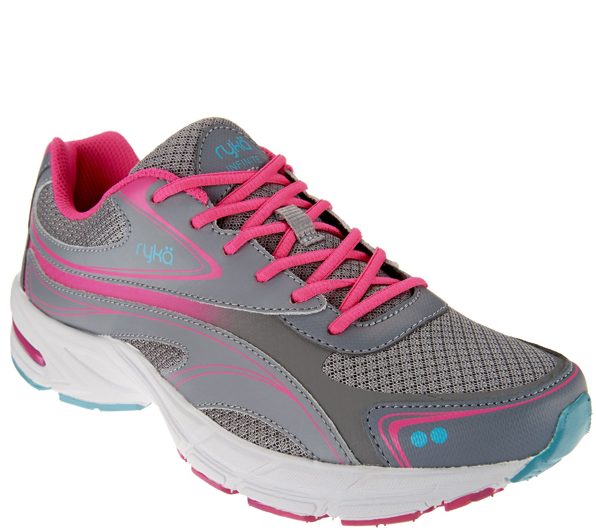 ryka lace up walking sneakers infinite page 1 qvc