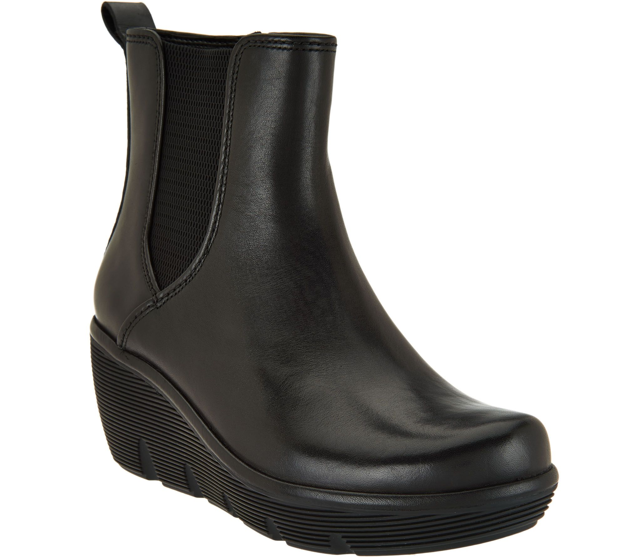 quot as is quot clarks artisan leather wedge boots clarene surf