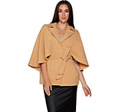 Joan Rivers Classic Cape with Belt - A296745