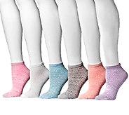 MUK LUKS Womens Microfiber No Shows 6-Pair Sock Pack - A335345