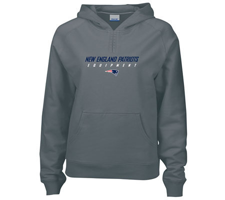 NFL New England Patriots Womens Equipment Hoodie   QVC.com