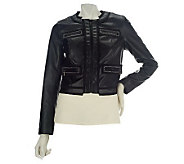 M by Marc Bouwer Faux Leather Jacket with Chain Detail - A226646