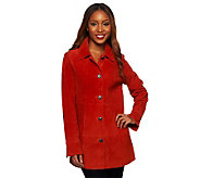 Denim & Co. Washable Suede Button Front Jacket with Pockets - A227446