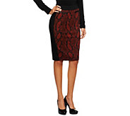 Kris Jenner Kollection Pull-On Printed Knit Skirt - A235746