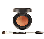 Laura Geller Baked Brow Tones with Double Ended Brush - A240846