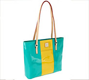 Dooney & Bourke Lexington Two Tone Patent Leather Shopper - A254946