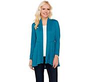 Susan Graver Melange Sweater Knit Open Front Cardigan - A260246
