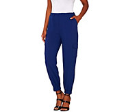 Lisa Rinna Collection Pull-On Banded Bottom Cargo Pants - A265446