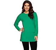 Denim & Co. Jersey Scoop Neck Long Sleeve Tunic with Pockets - A273046