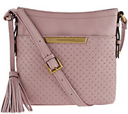 Tignanello Pebble Leather Embossed Weave RFID Crossbody Bag - A273546