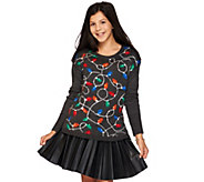 Aeropostale Light Up Holiday Lights Long Sleeve Sweater - A273946