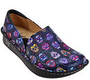 As Is Alegria Leather Printed Slip-on Shoes - Debra Pro - A280646