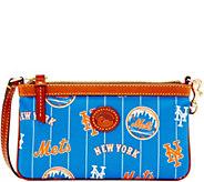 Dooney & Bourke MLB Nylon Mets Large Slim Wristlet - A281646