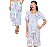 Carole Hochman Lakeside Bloom 3 Piece Pajama Set - A284946