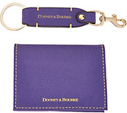 Dooney & Bourke Carpenter Key Chain w/ 2 FOld Card Case - A286246