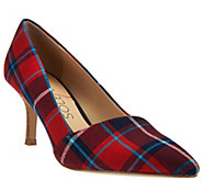 As Is Sole Society Printed Pointed Toe Pumps - Angelica - A287546
