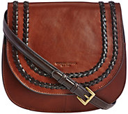 As Is Tignanello Vintage Leather RFID Saddle_Bag - A288646