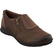 Earth Origins Leather Slip-on Shoes w/ Side Zip - Nila - A296846