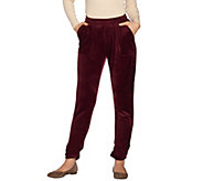 Laurie Felt Lush Velour Jogger Pants with Pockets - A299946